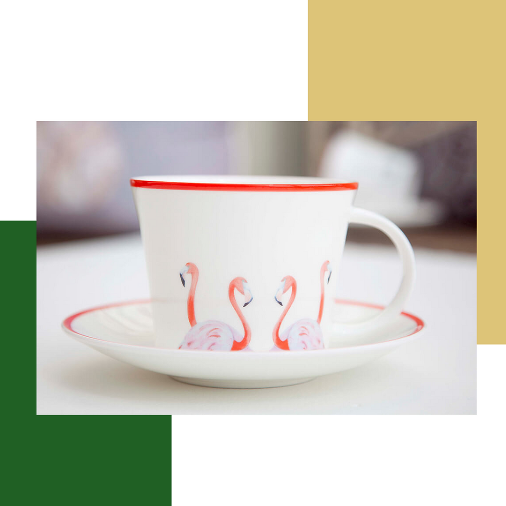 Emily Smith: Flossy and Amber Cup and Saucer