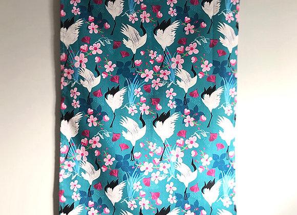 Tea Towel - Crane & Blossom