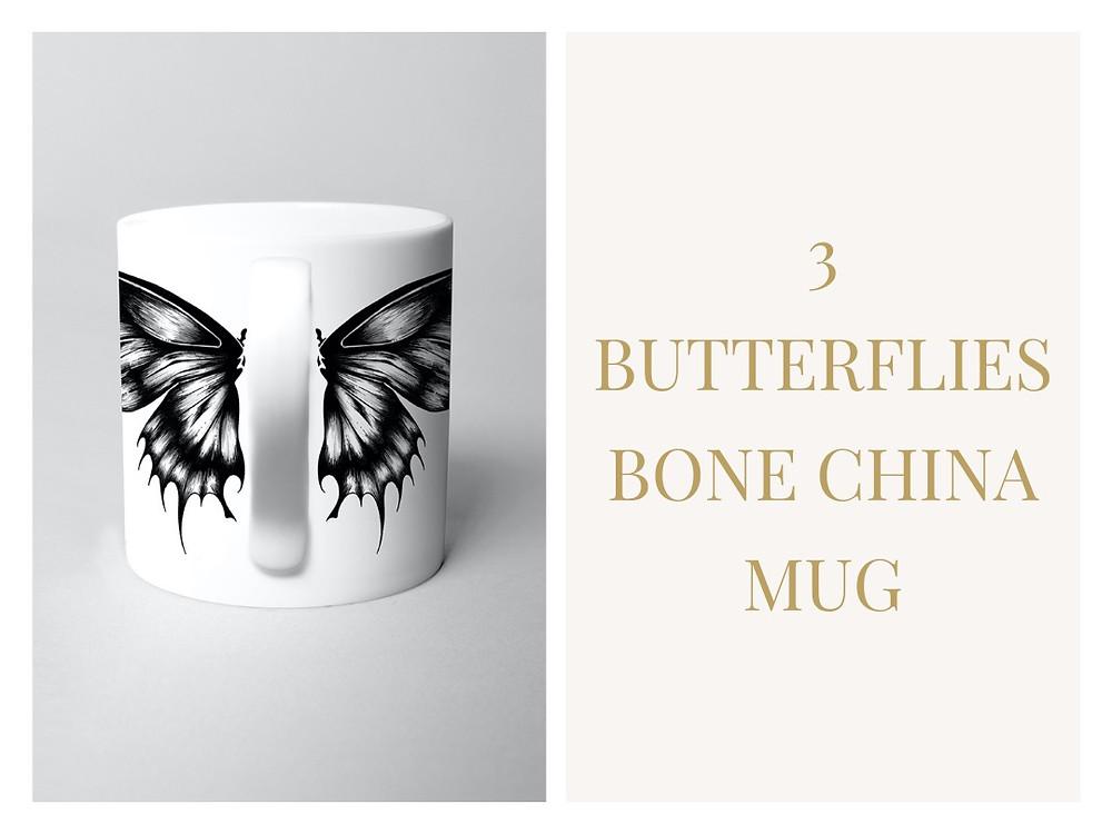 Butterflies Fine Bone China Mug - Si Scott