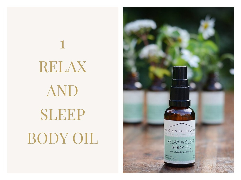 Relax and sleep body oil from Organic House Skincare