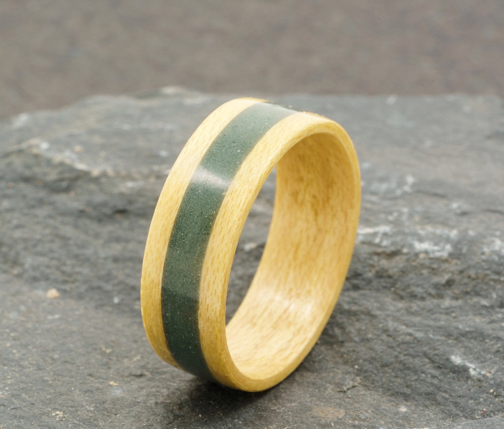 Maple And Lakeland Slate Ring - Take The Lakes With You Wherever You Go - Ammonite Studio