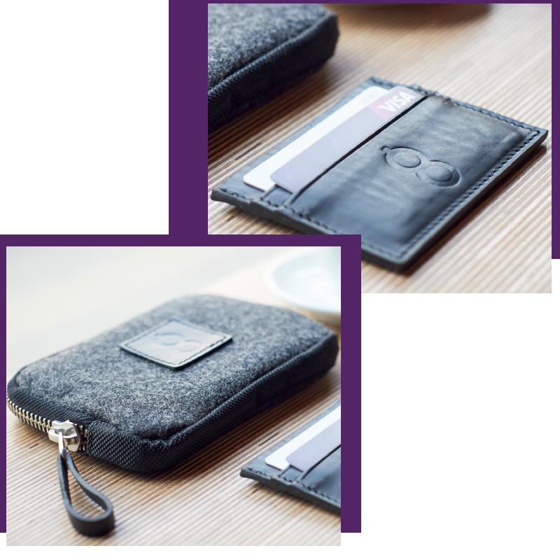 Both Barrels: Credit Card Slip and Travel Wallet