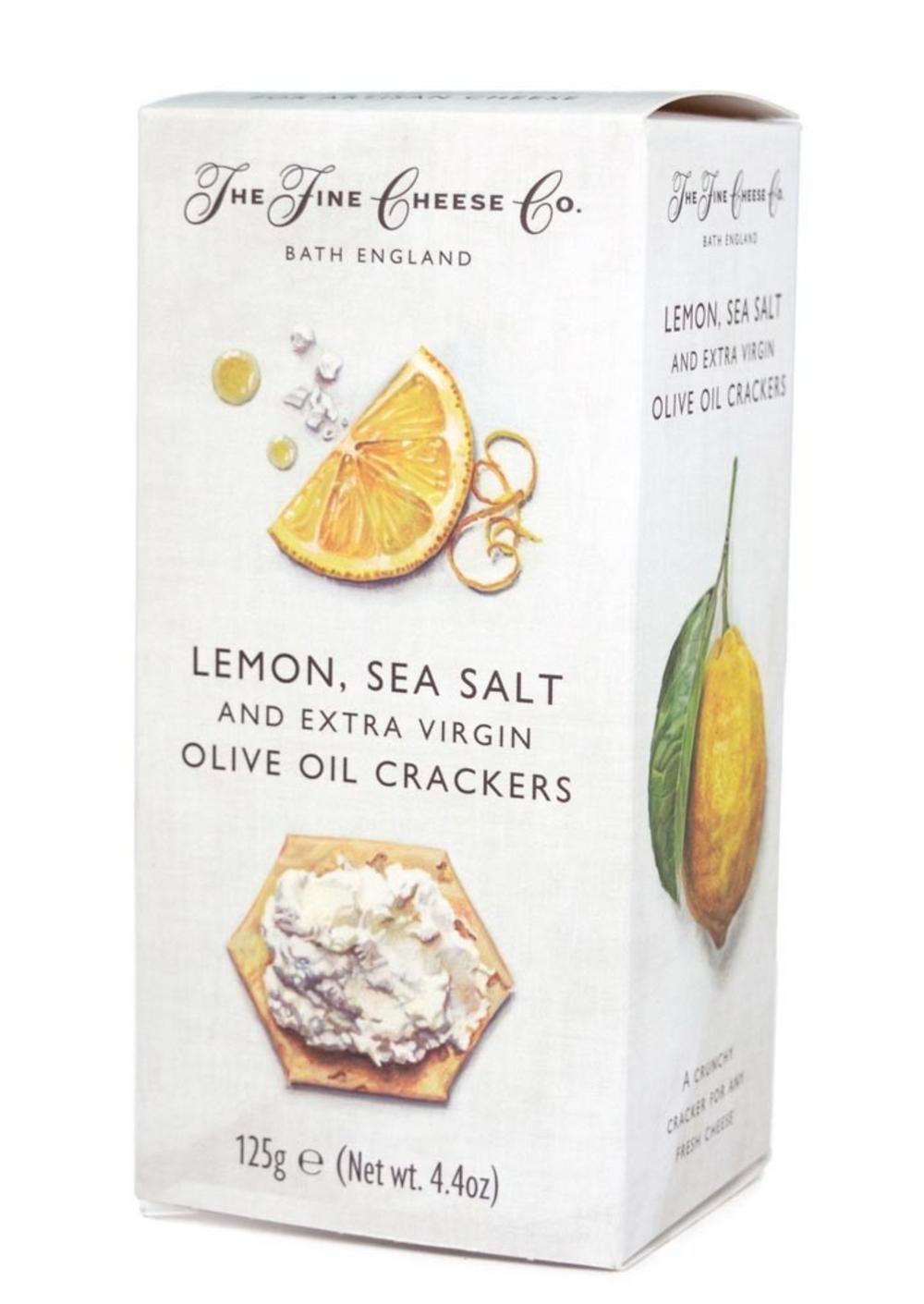 Lemon, Sea Salt and Extra Virgin Olive Oil Crackers