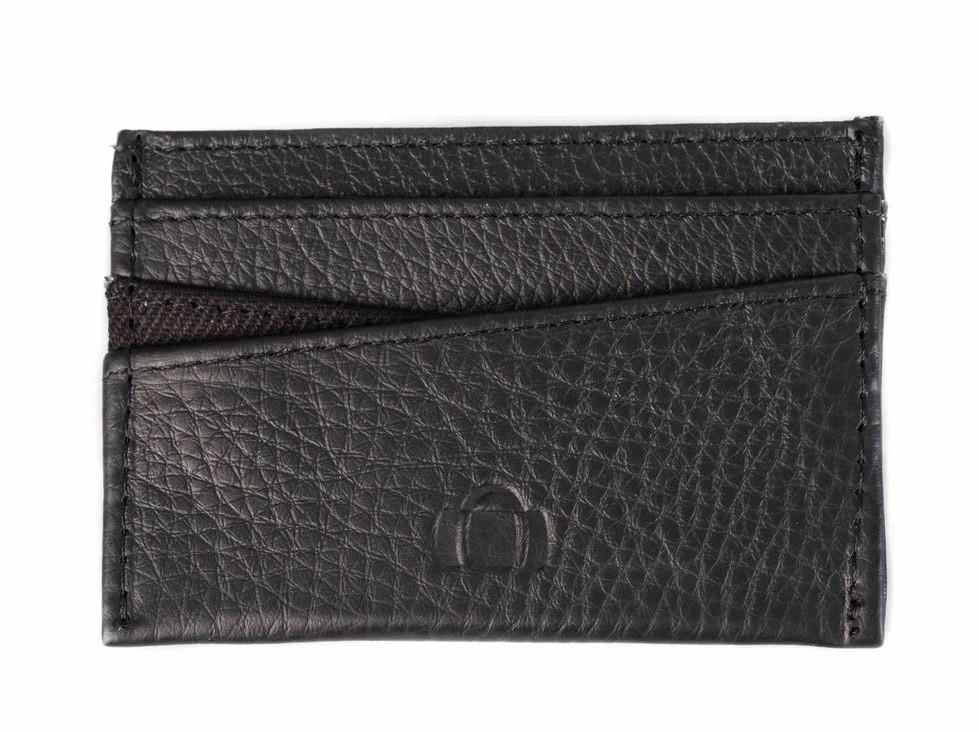 Oynx Black Leather Card Holder - Barrels of London