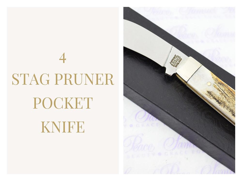 Stag Pruner Pocket Knife The Sheffield Cutlery Shop