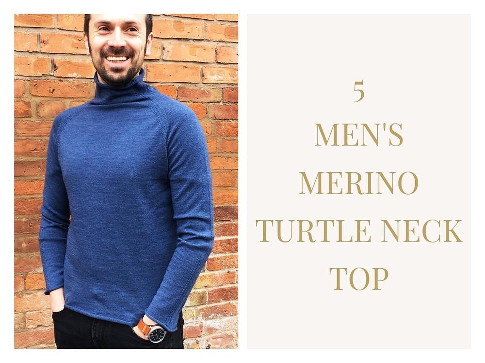 Men's Merino Turtle Neck Top - Foxology