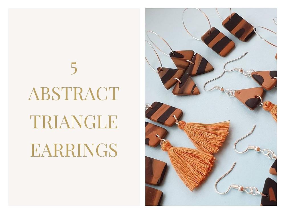 Abstract Triangle Earrings from 'U OClay Hun?'