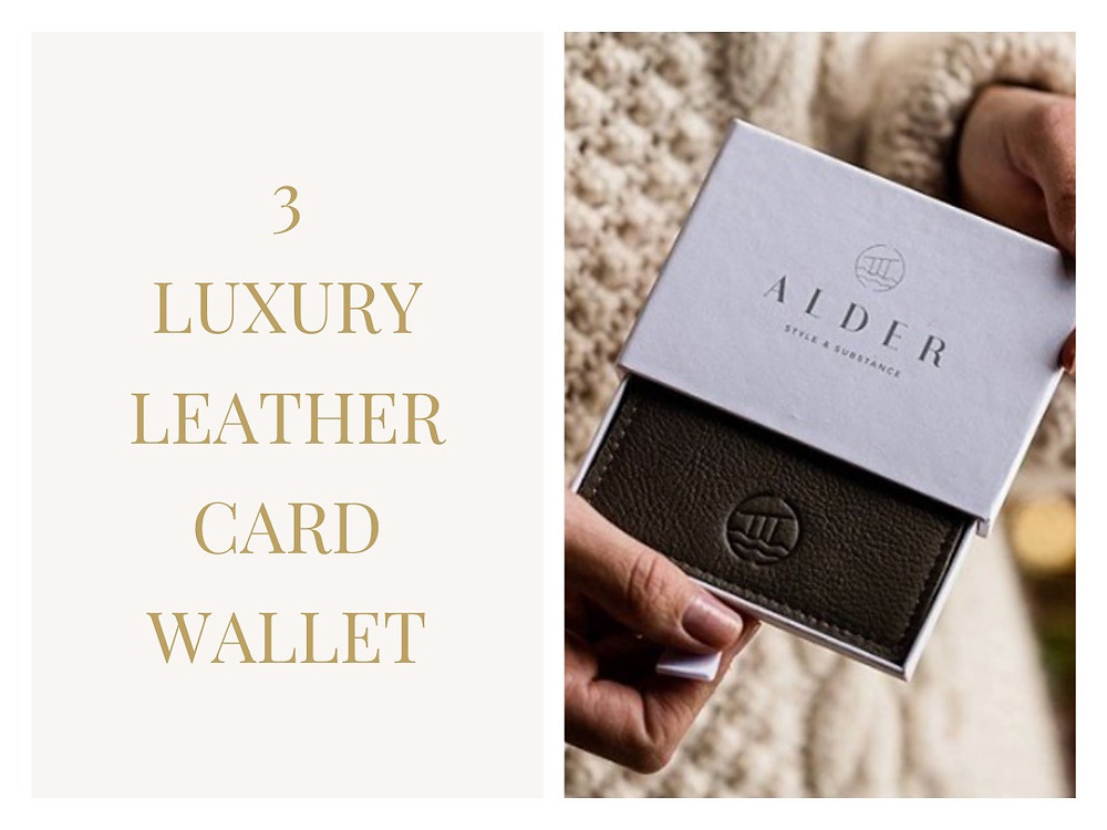 Smart Leather Card Wallet in British Berry Red from Alder Style
