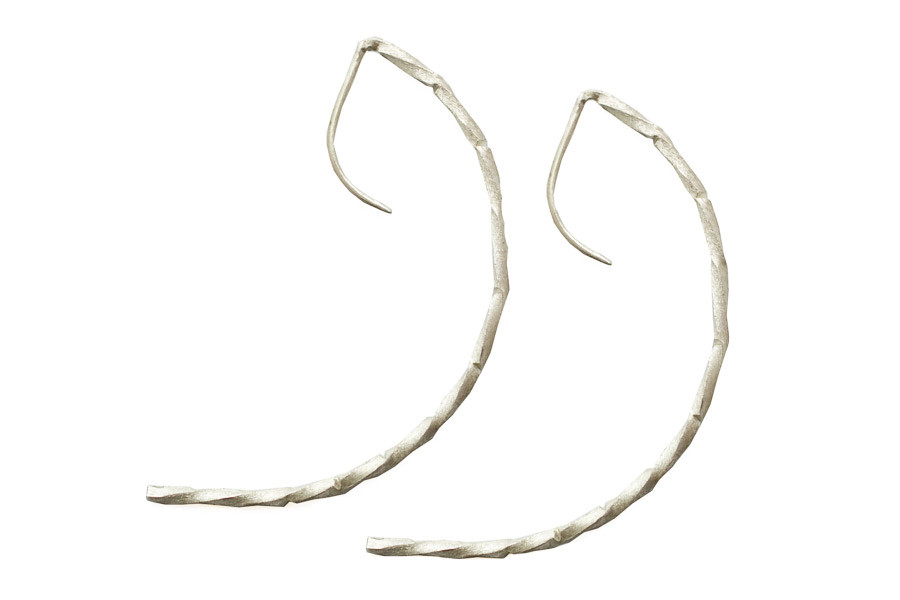 Sandra Tepla Jewellery: Classic open hoop recycled silver earrings
