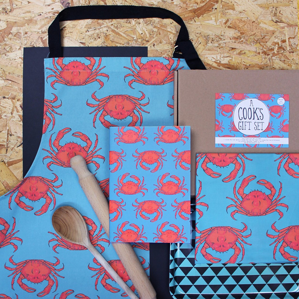 Turquoise Crab Cooks Gift Set - £38
