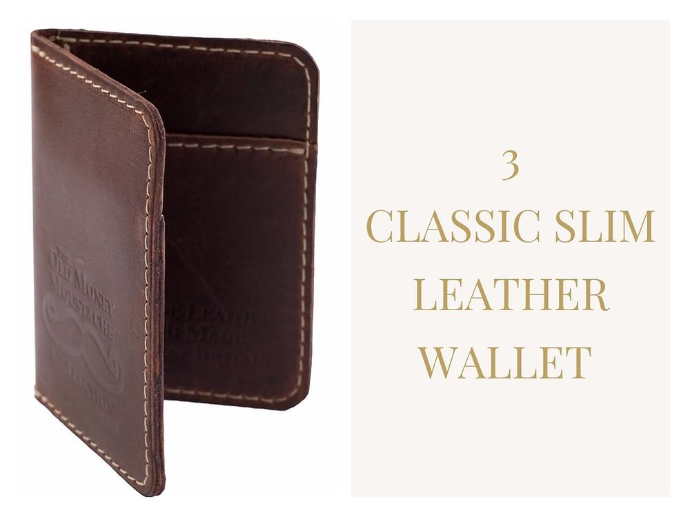 Classic Slim Wallet Old Money Moustache