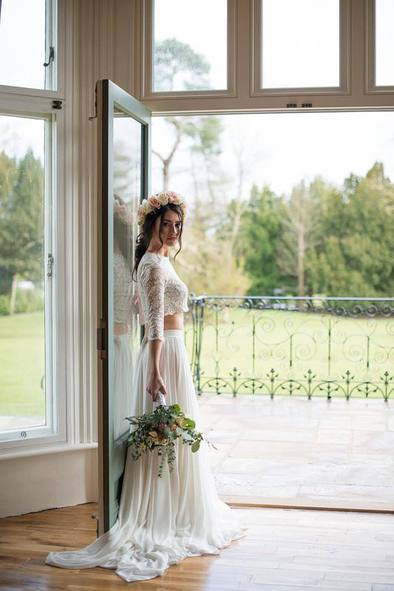 Floral Wedding Look