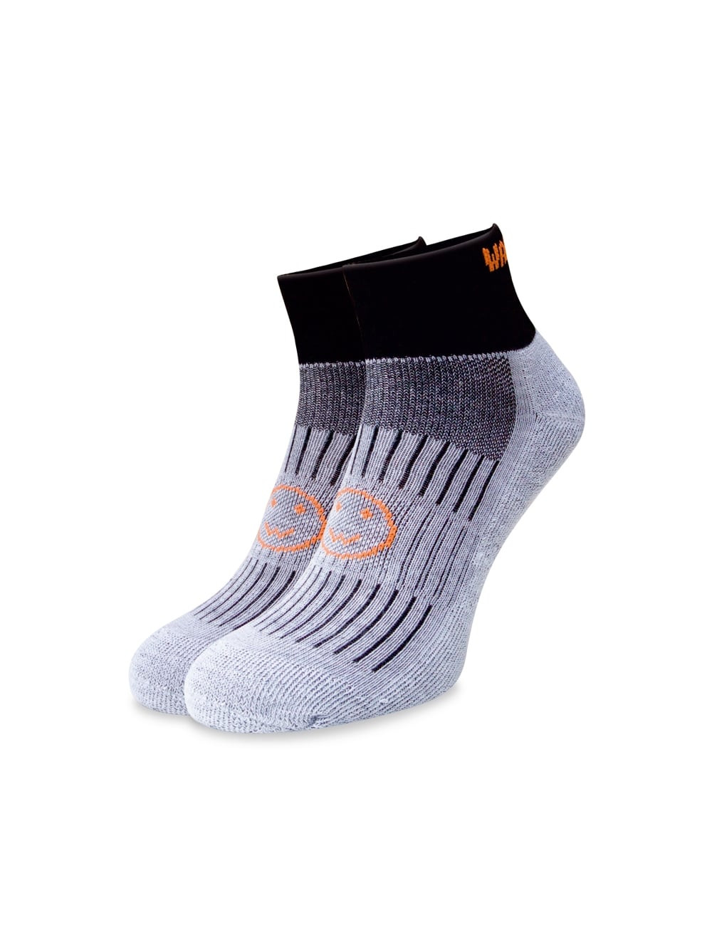 Wacky Sox: Black Ankle Running Socks