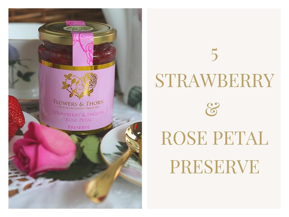Flowers & Thorne Strawberry & English Rose Petal Preserve