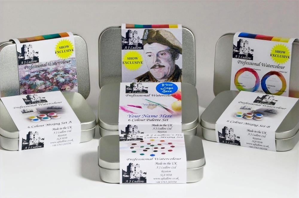 Unique British water colour gift sets