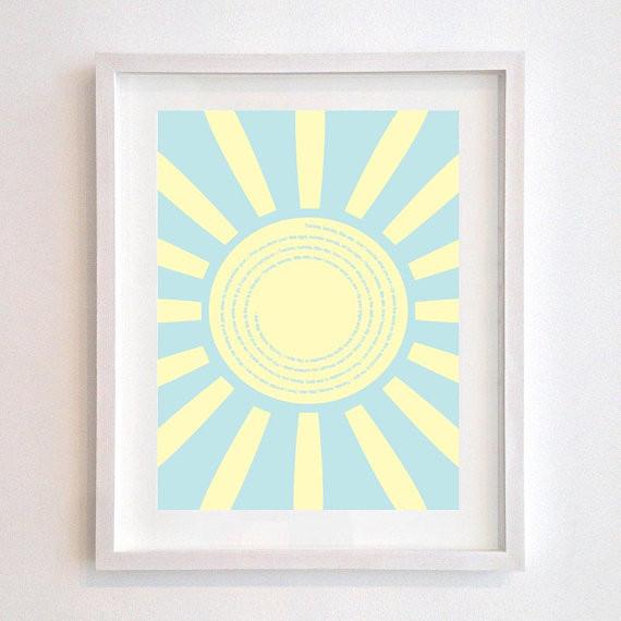 Sunshine Nursery Rhyme Wall Art