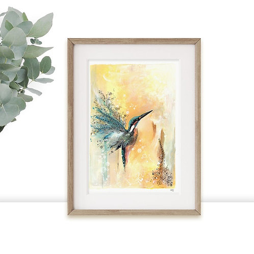 Kingfisher Limited Edition A3 Art Print,