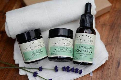 Organic House Glow Facial Gift Box