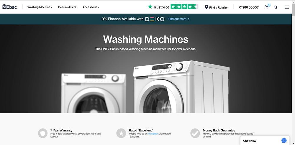 Buy a British Made washing machine