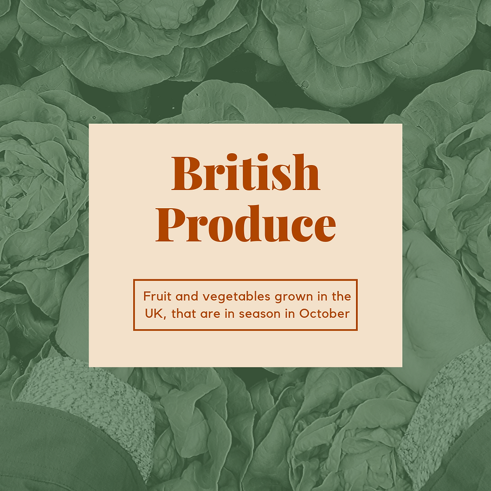 British Produce: October Fruit and Vegetales