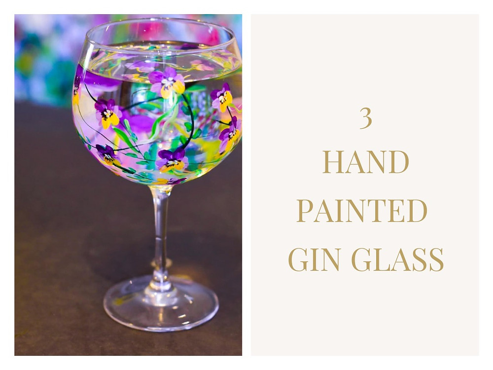 Hand Painted Gin Glass - Lynsey Johnstone
