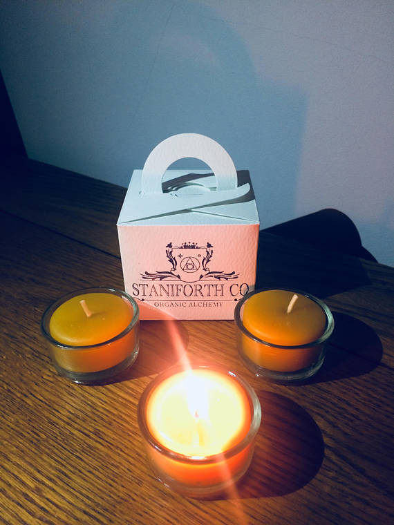Staniforth Co: 100% Beeswax Tea Light Candles