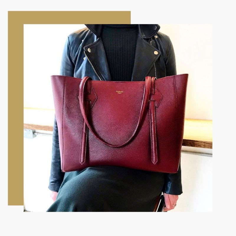 Handmade from British leather, this is the perfect go-to bag for shopping trips