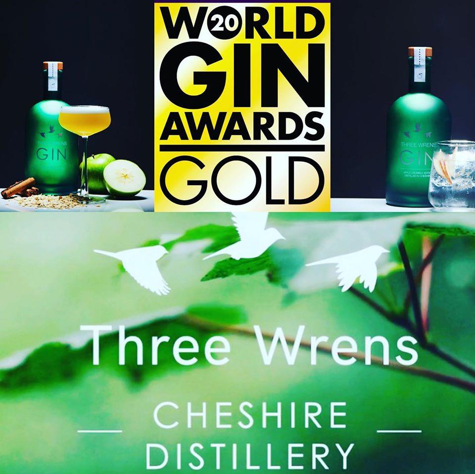 Three Wrens Gin Distillery Award Winner