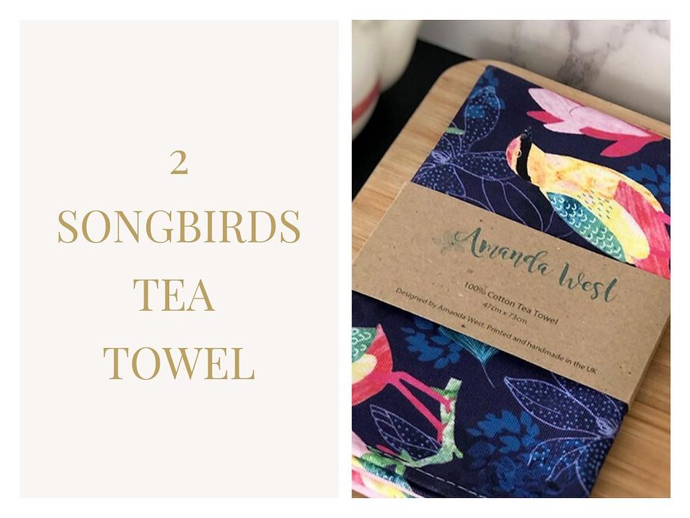 Songbirds Tea Towel - Amanda West