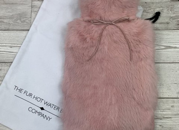 Blossom Pink Luxury Fur Hot Water Bottle