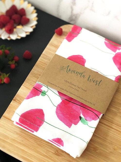 Tea Towel - Poppies