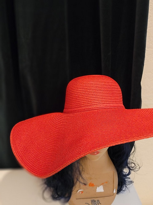 Red Extra Wide Floppy Hats