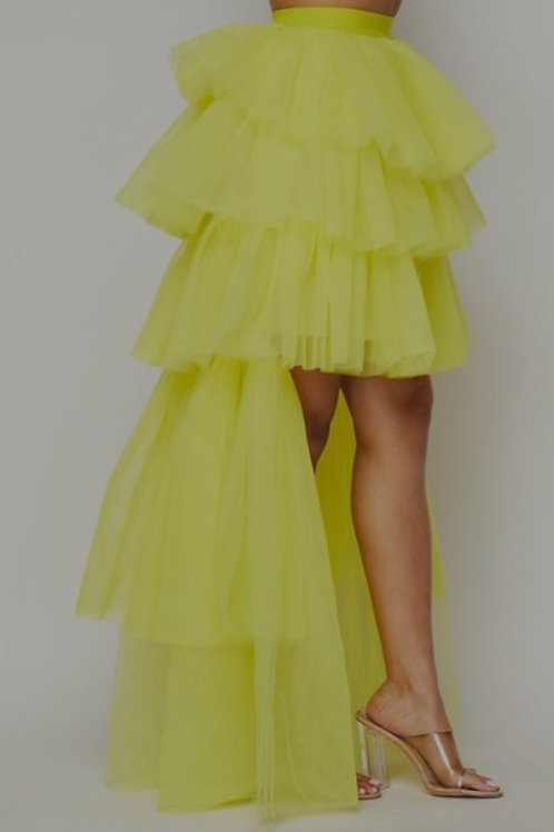Tulle High and Low Sassy Skirt Pink