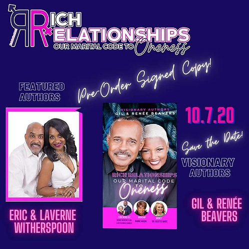 **Pre ORDER** Rich  Relationship Our Marital Code to Oneness