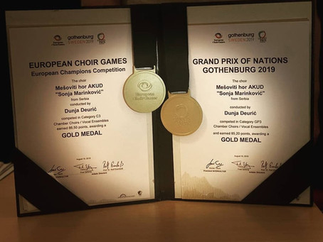 Najveći uspeh u istoriji hora: Dve zlatne medalje u Geteborgu