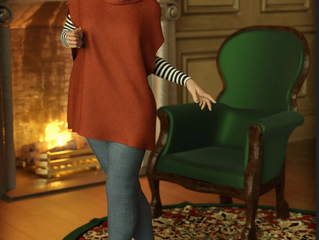dForce Winter Kisses Outfit for Genesis 8 Female(s)