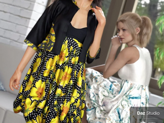 dForce Boho Boutique Bubble Dress for Genesis 8 Female(s)