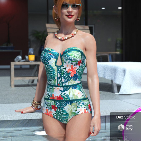Sophisticated Swimsuit for Genesis 8