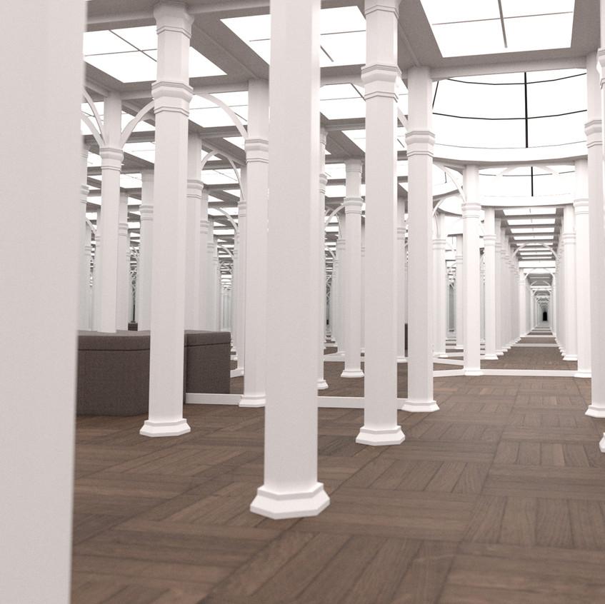 White Paint scheme with pillars
