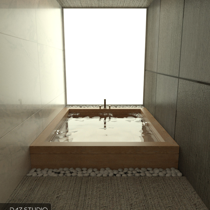 The Japanese style bath