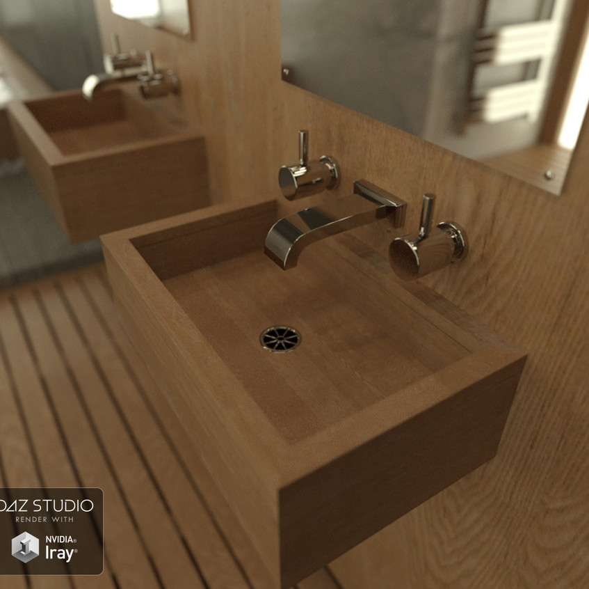 Close up of the sink and taps