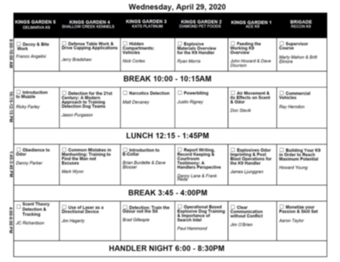 Class schedule - Wednesday.tif