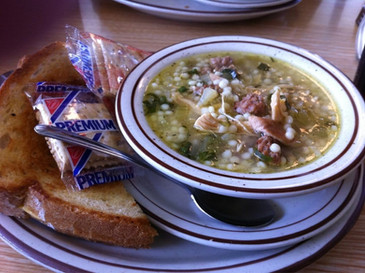 Wedding Soup with Grilled Cheese