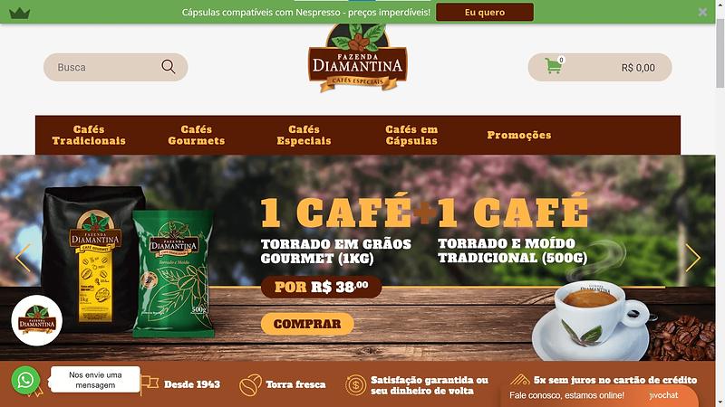 Melhorias Ecommerce Café Diamantina
