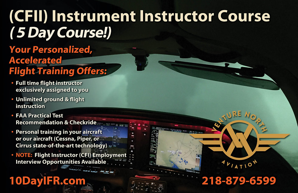 5 Day CFII Instrument Instructor Course.