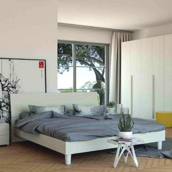 Cinzia letto in legno bianco