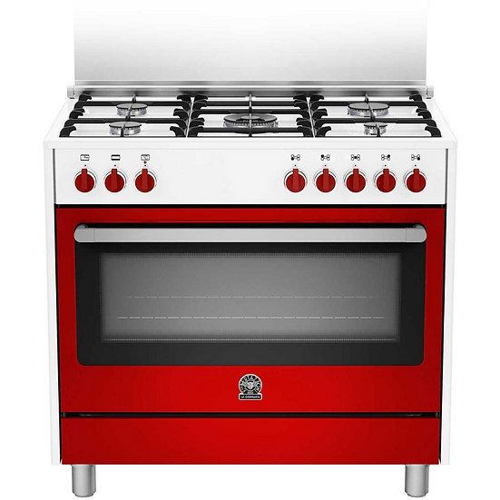 Cucina con forno elettrico 90x60 La Germania Rossa