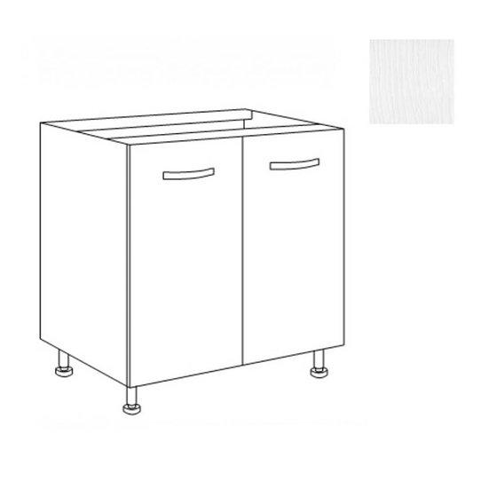 Base cucina 80x60x82 due ante bianco frassinato
