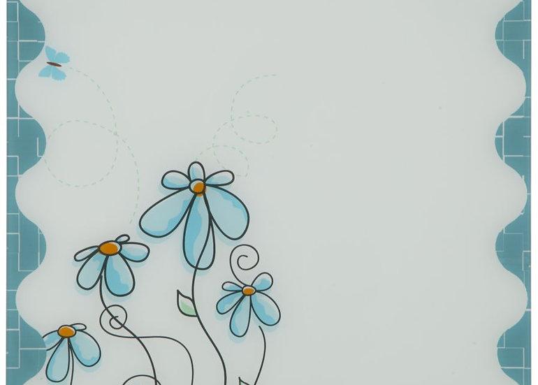 LAVAGNA IN VETRO C/PENNARELLO FLOWER CM 50X1X50 MIN 2