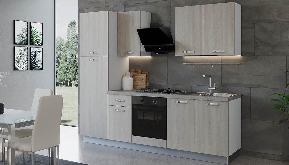 Cucina 255 cm Aura Lusso con elettrodomestici